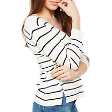 Buy Miss Selfridge Stripe V Lattice Jumper, Multi Online at johnlewis.com