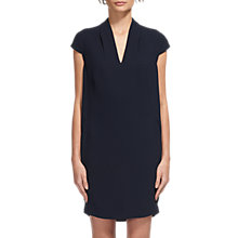 Buy Whistles Polly V Neck Dress, Navy Online at johnlewis.com