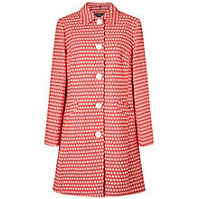Buy Four Seasons Small Spot Single Breasted Coat, Hot Pink/Ivory Online at johnlewis.com