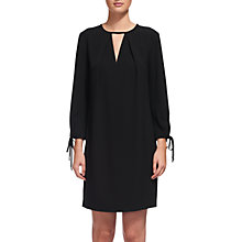 Buy Whistles Lucia Tie Sleeve Dress, Black Online at johnlewis.com