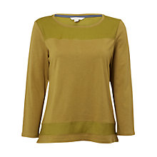 Buy White Stuff Pretty Panel Jersey T-Shirt, Sprig Green Online at johnlewis.com