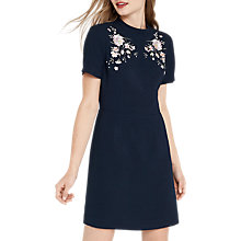 Buy Oasis Oriental Embroidered Dress, Navy Online at johnlewis.com