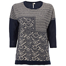 Buy White Stuff Jacquard Knit Top, Navy Online at johnlewis.com