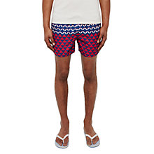 Buy Ted Baker Opah Colour Block Geo Swim Shorts, Navy/Red Online at johnlewis.com
