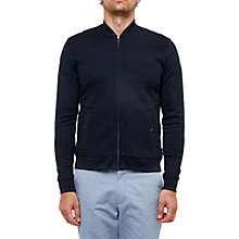 Buy Ted Baker Onslow Quilted Bomber Jacket, Navy Online at johnlewis.com
