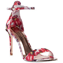 Buy Ted Baker Charv Expressive Pansy Stiletto Sandals, Multi Online at johnlewis.com