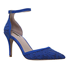 Buy Carvela Gage Two Part Stiletto Court Shoes, Blue Online at johnlewis.com