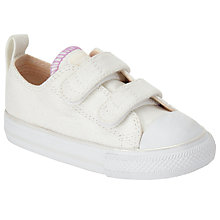 Buy Converse Children's CT 2V Rip-tape Ox Trainers, White Online at johnlewis.com