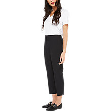 Buy Miss Selfridge Petite Cigarette Trousers, Black Online at johnlewis.com