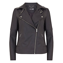 Buy Mint Velvet Clean Leather Biker Jacket Online at johnlewis.com