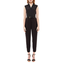 Buy Ted Baker Natoly Casual Collared Jumpsuit, Black Online at johnlewis.com
