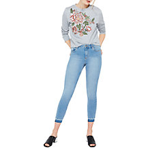 Buy Miss Selfridge Turn Down Lizzie Jeans, Light Wash Online at johnlewis.com