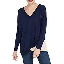 Buy Oasis Lenny Lou Jumper, Navy Online at johnlewis.com
