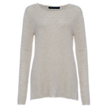 Buy French Connection Richter Long Sleeve Jumper, Dark Oatmeal Mel Online at johnlewis.com