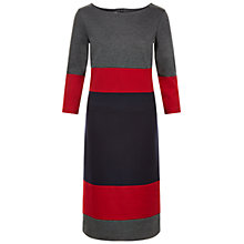 Buy Hobbs Zannie Midi Dress, Cherry Grey Online at johnlewis.com