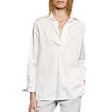 Buy French Connection Oldenberg Stitch Long Sleeve Blouse, Summer White Online at johnlewis.com