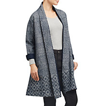 Buy East Tile Print Coat, Navy Online at johnlewis.com