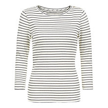 Buy Hobbs Alice Stripe Top, French Blue/Ivory Online at johnlewis.com