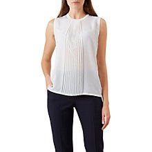 Buy Hobbs Sophie Sleeveless Knit Top, Ivory Online at johnlewis.com