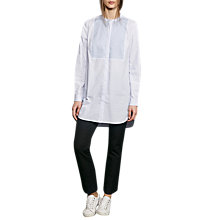 Buy French Connection Smithson Cotton Shirt, Salt Water/Summer White Online at johnlewis.com