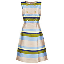Buy Hobbs Ada Italian Jacquard Dress, Light Blue/Multi Online at johnlewis.com