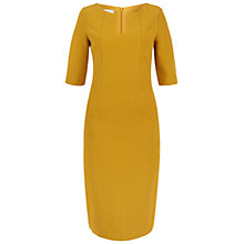 Buy Hobbs Eimear Ottoman Dress, Gold Yellow Online at johnlewis.com
