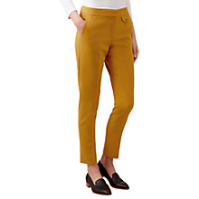 Buy Hobbs Louise Trousers, Gold Online at johnlewis.com
