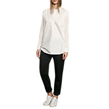 Buy French Connection Crochet Shirt, Summer White Online at johnlewis.com