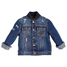 Buy Angel & Rocket Boys' Jersey Denim Jacket, Blue Online at johnlewis.com