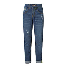 Buy John Lewis Boys' Stretch Distressed Jeans, Blue Online at johnlewis.com