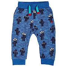 Buy Angel & Rocket Baby Slub Cactus Joggers, Blue Online at johnlewis.com
