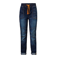 Buy John Lewis Boys' Elasticated Waist Washed Jeans, Denim Online at johnlewis.com