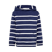Buy John Lewis Boys' Breton Stripe Hoodie, Blue Online at johnlewis.com