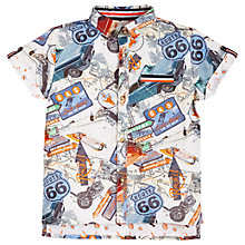 Buy Angel & Rocket Boys' Short Sleeve Printed Shirt, Multi Online at johnlewis.com