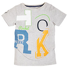 Buy Angel & Rocket Boys' Graphic Printed T-Shirt, Grey Online at johnlewis.com