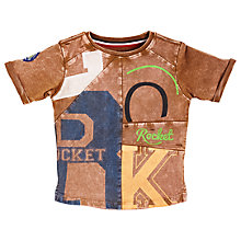 Buy Angel & Rocket Boys' Cut and Sew Graphic T-Shirt, Brown Online at johnlewis.com