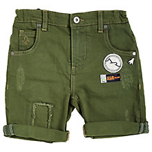 Buy Angel & Rocket Boys' Denim Shorts, Green Online at johnlewis.com