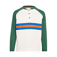 Buy John Lewis Boys' Long Sleeve Stripe Henley Shirt Online at johnlewis.com