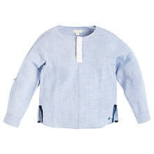 Buy Angel & Rocket Boys' Printed Shirt, Navy/White Online at johnlewis.com