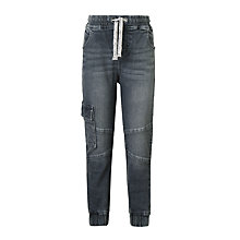 Buy John Lewis Boys' Stretch Jogger Jeans, Dark Grey Online at johnlewis.com