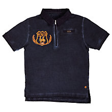 Buy Angel & Rocket Boys' Pique Polo Top, Navy Online at johnlewis.com