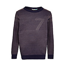 Buy John Lewis Boys' Ottoman Striped Knitted Jumper, Blue Online at johnlewis.com