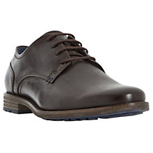 Buy Dune Bran Leather Derby Shoes, Brown Online at johnlewis.com