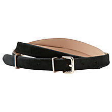 Buy Hobbs Katie Leather Belt, Olive Online at johnlewis.com