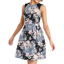 Buy Oasis Lotus Print Skater Dress, Multi Online at johnlewis.com