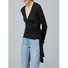 Buy Warehouse Long Sleeve Wrap Top Online at johnlewis.com