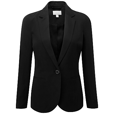 Product photo of Pure collection silk linen blazer black