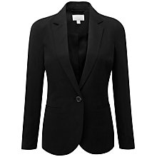 Buy Pure Collection Silk Linen Blazer, Black Online at johnlewis.com