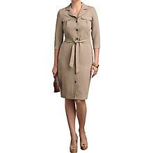 Buy Pure Collection Silk Linen Shirt Dress Online at johnlewis.com