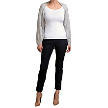 Buy Pure Collection Oversized Gassato Cashmere Shrug, Iced Grey Online at johnlewis.com